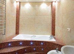 Для ванной комнаты лучше всего подойдут точечные светильники