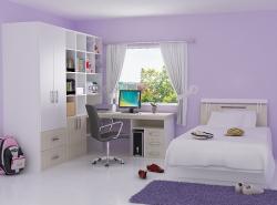 Спальню девочки-подростка лучше делать в светлых тонах, чтобы ребенок чувствовал себя комфортно