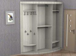 Шкафы-купе оснащены всеми необходимыми составляющими, предназначенными для хранения одежды, обуви и бытовых предметов