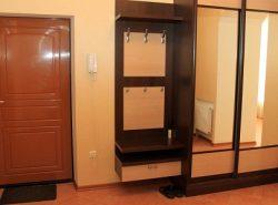 Коридор является отличным местом для расположения шкафа-купе с зеркалом, благодаря которому можно проверить свой внешний вид перед выходом из дома