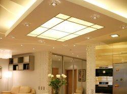 Выбор осветительных приборов на потолок достаточно велик, однако следует обращать внимание на высоту помещения и его интерьер