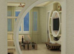 Красиво дополнить интерьер помещения можно при помощи стильной арки из гипсокартона