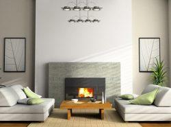 С помощью камина можно существенно улучшить эстетические качества гостиной и придать ей уюта