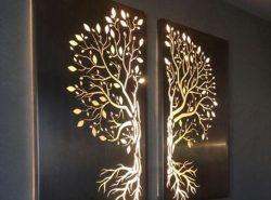 Для дополнения дизайна в квартире идеально подойдет креативное световое панно