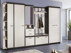 Мебельный гарнитур, состоящий из отдельных модулей, обеспечивает возможность неограниченной фантазии при разработке индивидуального интерьера прихожей