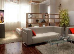 В однокомнатной квартире можно обустроить гостиную-спальню