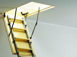 Чердачные лестницы Факро являются достаточно популярными, поскольку они безопасные и практичные