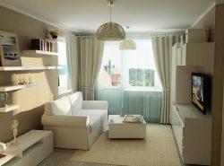 Перед началом оформления узкой гостиной следует выполнить чертеж на бумаге, указав места расположения мебели