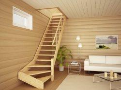 Изготовить и установить межэтажную лестницу из дерева можно самостоятельно
