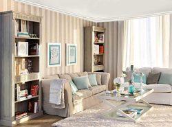 Правильно выбранные обои в полоску способны изменить размер комнаты