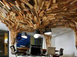 Благодаря необычным потолкам можно сделать интерьер более стильным и оригинальным