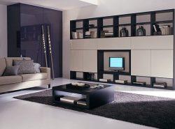 Мебель для зала в современном стиле не только оригинальна, но и очень практична
