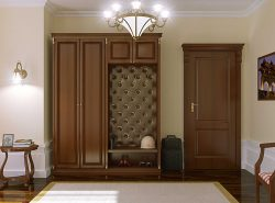 Мебель в прихожей в классическом стиле отражает хороший вкус хозяев