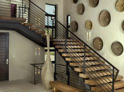 Стильная лестница может не только украсить интерьер, но и стать ярким акцентом в интерьере
