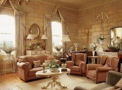 Гостиная в английском стиле характеризуется изысканным и строгим интерьером