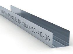 Размер металлического профиля подбирается в зависимости от объемности будущей конструкции и толщины гипсокартона