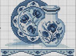 Схема вышивки крестом гжель имеет свои нюансы и предполагает кропотливую ручную работу