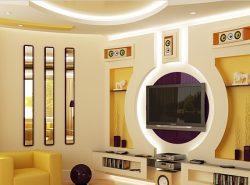 Наличие фальш-стены в интерьере сделает комнату красивой и оригинальной