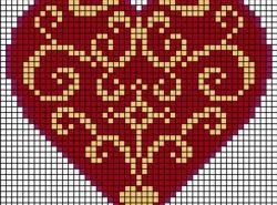 С вышивкой сердечка справится даже человек далекий от ремесла вышивальщика