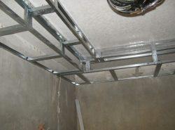Каркас под гипсокартон является основой всей металлической конструкции