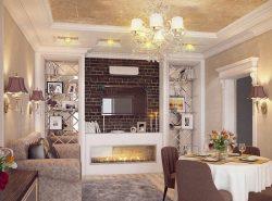 Перед началом обустройства гостиной-столовой рекомендуется составить чертеж, указав места расположения каждого предмета мебели
