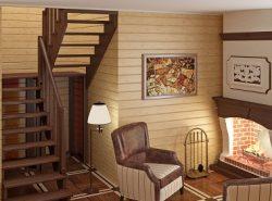 П-образная лестница отлично подходит как для квартиры, так и для загородного дома