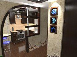 Мебель в прихожей-кухне должна быть максимально функциональной и качественной