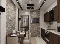 Перед началом обустройства кухни в коридоре следует составить подробный чертеж на бумаге
