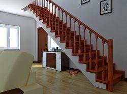 Даже простая прямая лестница способна красиво дополнить интерьер помещения