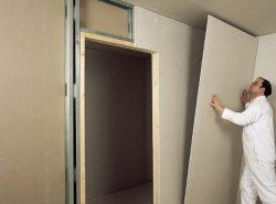 Поставить дополнительную стену в большой комнате можно при помощи качественных гипсокартонных листов