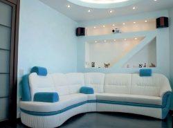 Красивая гипсокартонная ниша сделает интерьер гостиной более функциональным и практичным
