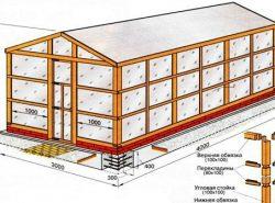 При постройке теплицы необходимо уделить особое внимание ее размерам
