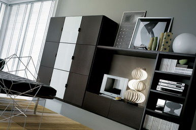 Шкаф в гостиной должен не только выглядеть современно, но еще быть функциональным