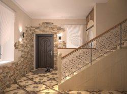 Декоративный камень способен существенно улучшить эстетические качества прихожей и придать ей оригинальности