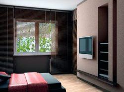 Сэкономить пространство в комнате поможет телевизор, разместить который следует на гипсокартонной стене