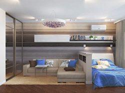 Чтобы спальня-гостиная смотрелась гармонично, при оформлении следует использовать единый стиль