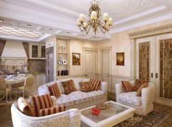 Правильно подобранный стиль для гостиной сделает комнату красивой,  уютной и атмосферной