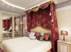Спальня в восточном стиле притягивает взор своей загадочностью и необыкновенностью