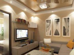 От правильно выбранного освещения в гостиной зависит восприятие пространства