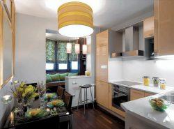 Объединение балкона с кухней – модная тенденция на сегодняшний день