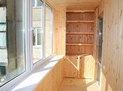 Вагонка - отличный материал для отделки балкона