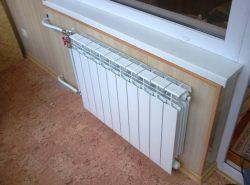С помощью батареи на балконе можно создать полноценную комнату