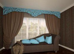 Стильно и красиво украсить шторы можно своими руками, при помощи самодельного ламбрекена