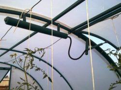 Комфортный микроклимат для растений в теплице можно контролировать с помощью термопривода