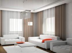 Шторы модерн прекрасно подойдут для интерьера, выполненного в стиле хай-тек