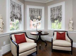 Элегантные австрийские шторы используют для придания интерьеру строгости, торжественности, возвышенности