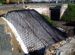 Геосетка – современный материал для укрепления грунта