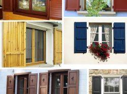 Деревянные ставни – это отличный способ не только обезопасить окно, но и оригинально его украсить