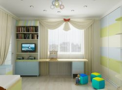Многие родители предпочитают вешать тюль в детской комнате, поскольку это практично и красиво