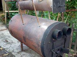 Печь для теплицы можно изготовить как самостоятельно, так и купить уже готовую